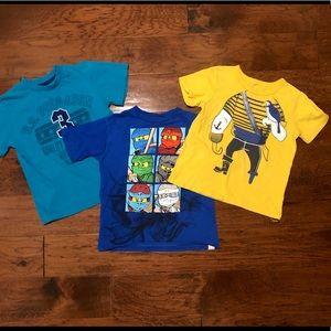 3 boys Tshirt's (Ninjago, pirate & Polo) size 5/6